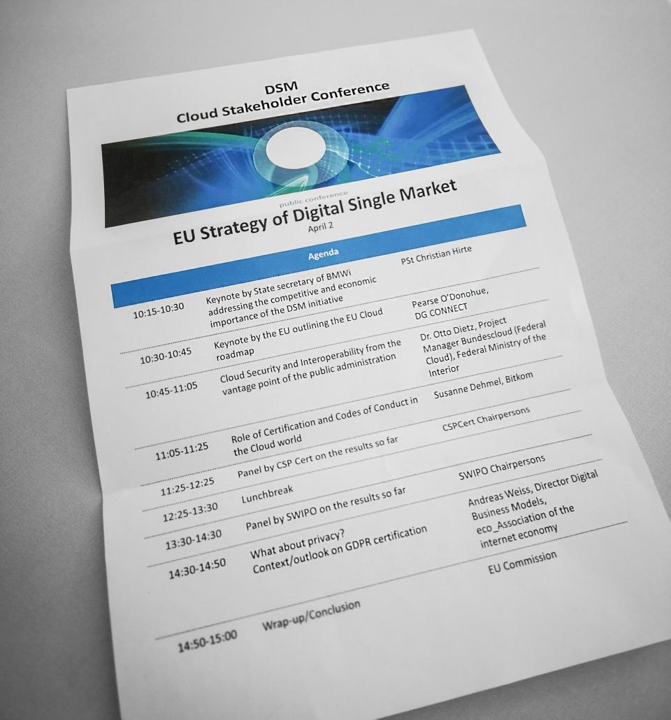 DSM Cloud Stakeholder Conference Programm