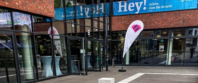 RubyUnconf 2019 in Hamburg in der HAW Finkenau - Eingangsbereich