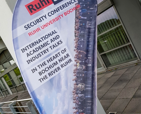 RuhrSec Aufsteller am Veranstaltungsort