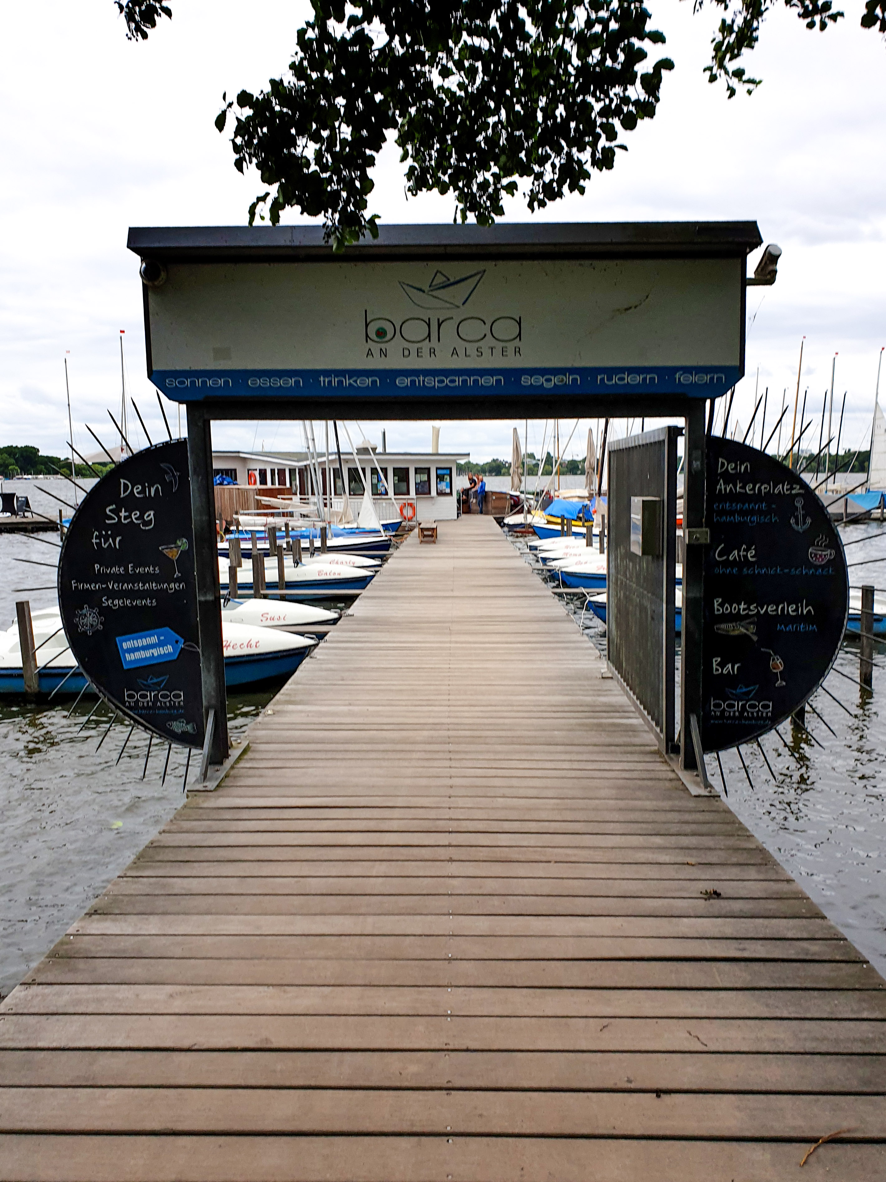Barca an der Alster